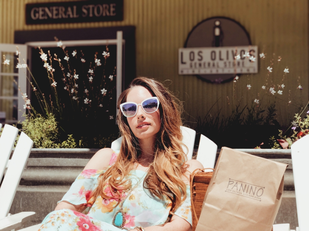 Fashion Designer Lauren Elaine visits Panino's in Los Olivos, California for Once Upon a Seam Blog