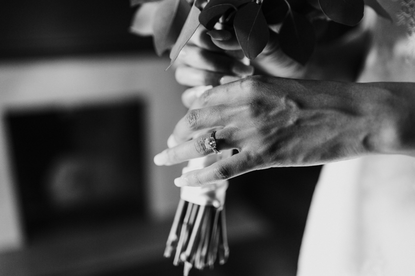 Floral closeups featuring bride Harmony in her Lauren Elaine wedding gown