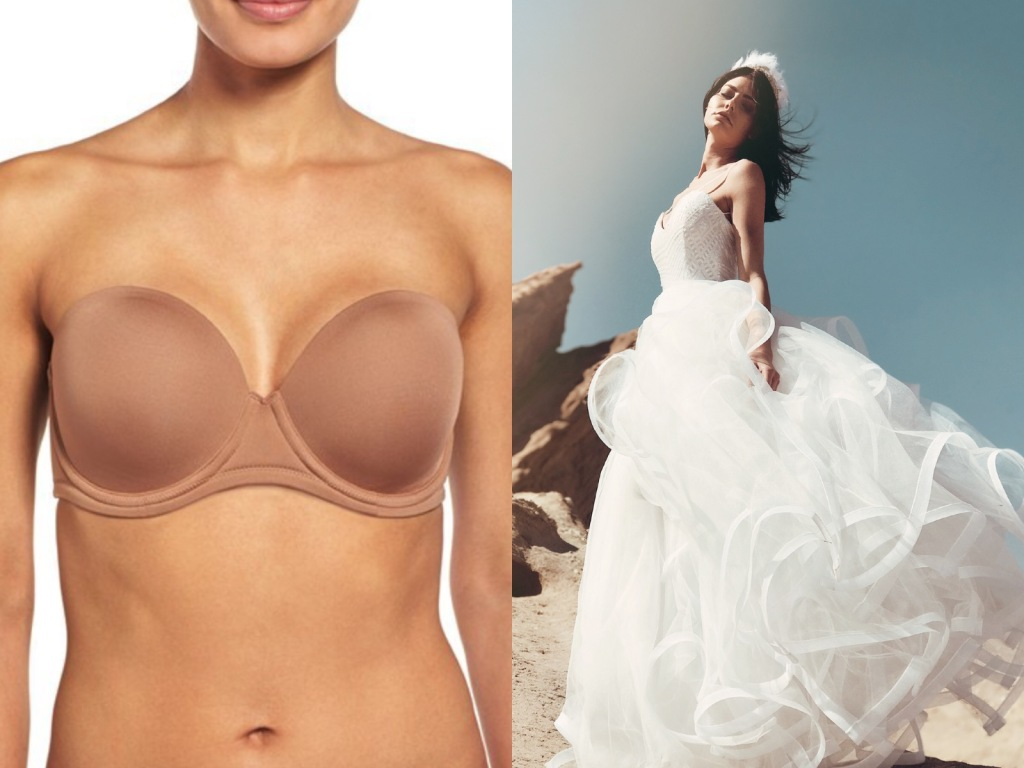 Best fuller figured lingerie for backless wedding dresses