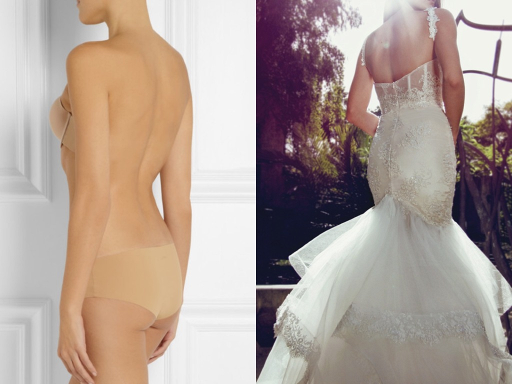 The best lingerie for backless wedding dresses and gowns