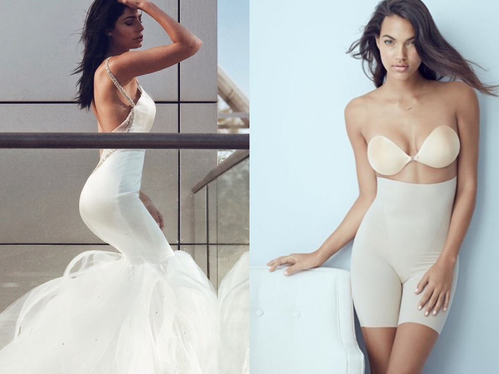 The best lingerie for backless wedding gowns