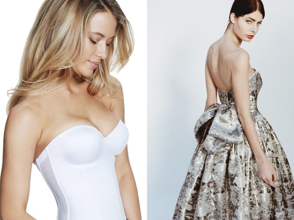 The best push-up corsets and lingerie for backless wedding dresses