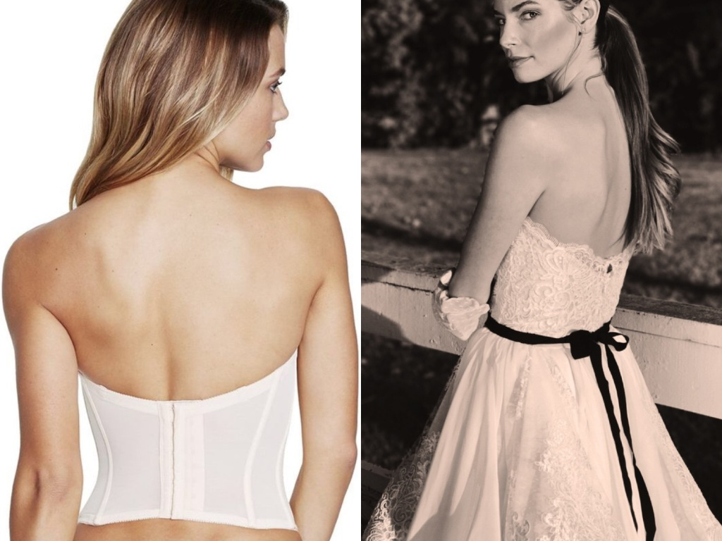 The best strapless bras and lingeries for backless wedding dresses