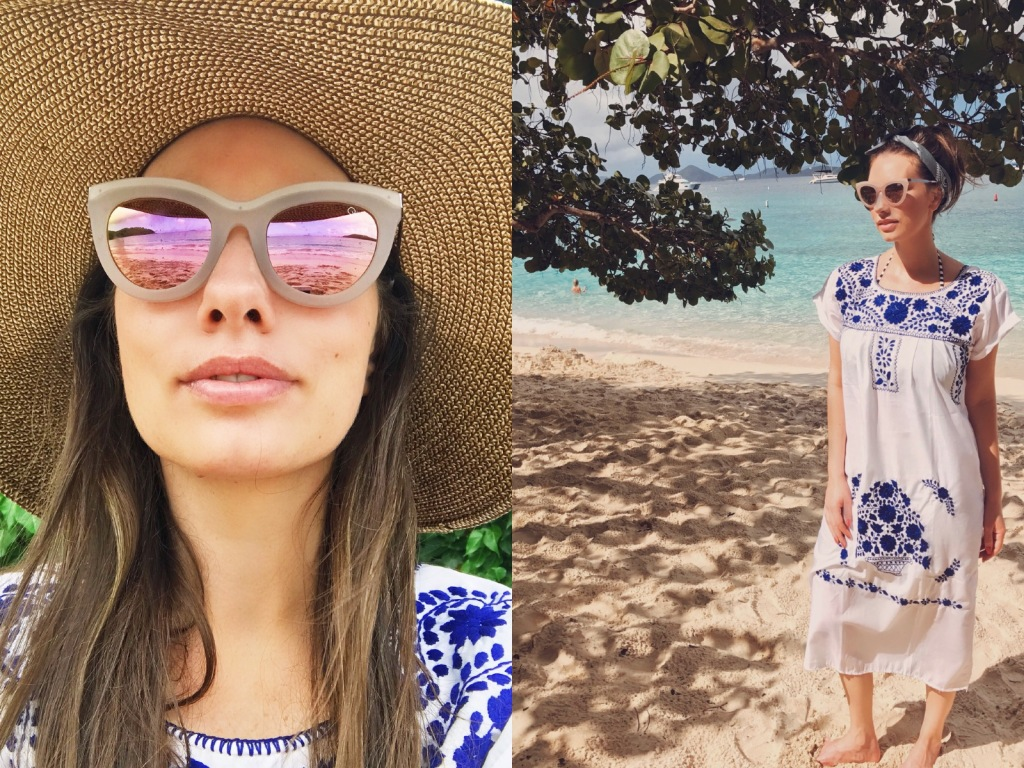 Fashion Designer Lauren Elaine explores Honeymoon Bay on St. John in the US Virgin Islands
