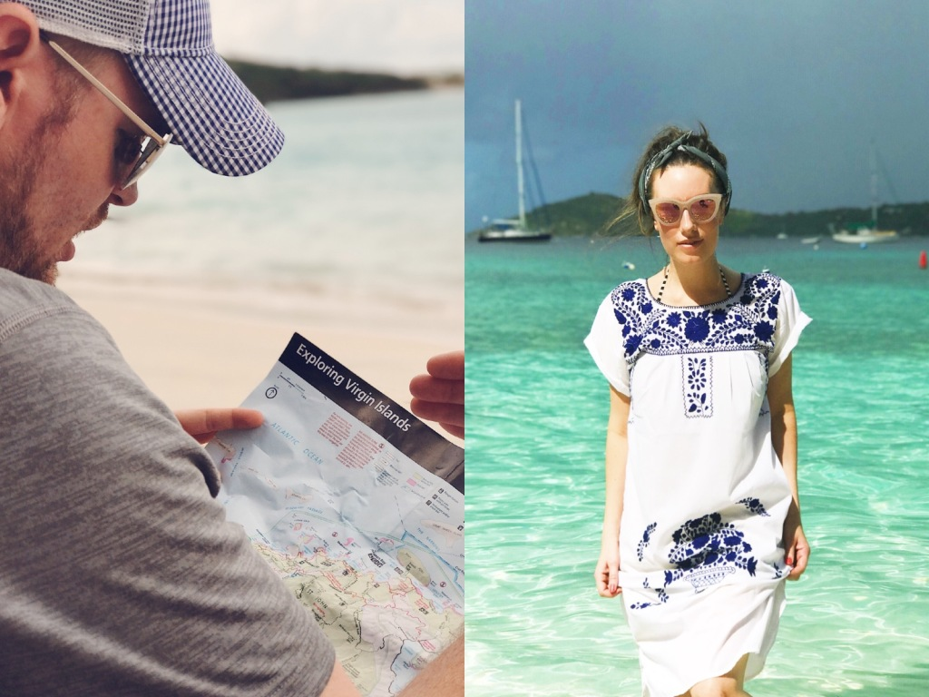 Fashion Designer Lauren Elaine explores saint john in the US virgin Islands