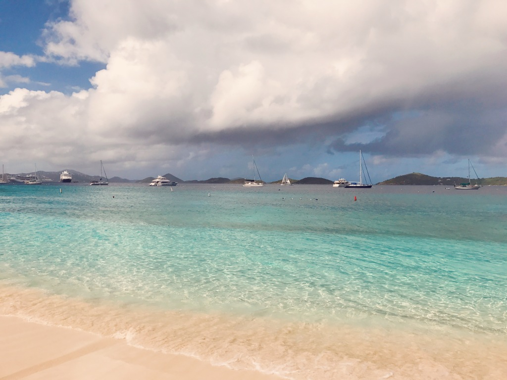 Honeymoon Bay at St. John US Virgin Islands before a storm