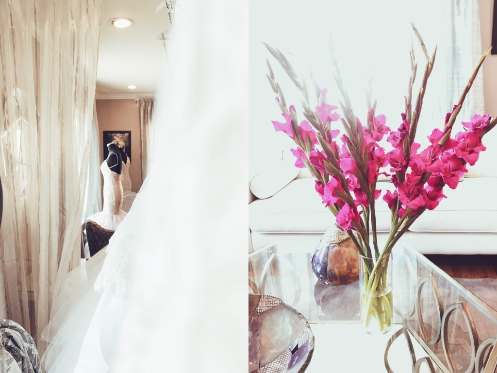 Interior of the Lauren Elaine Flagship Bridal Salon in Los angeles, CA