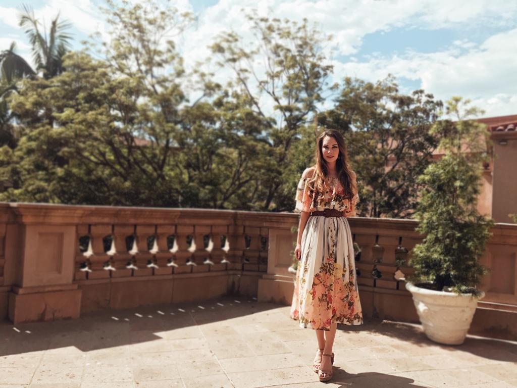 Los Angeles Bridal Designer Lauren Elaine explores the Langham Hungtington Pasadena gardens