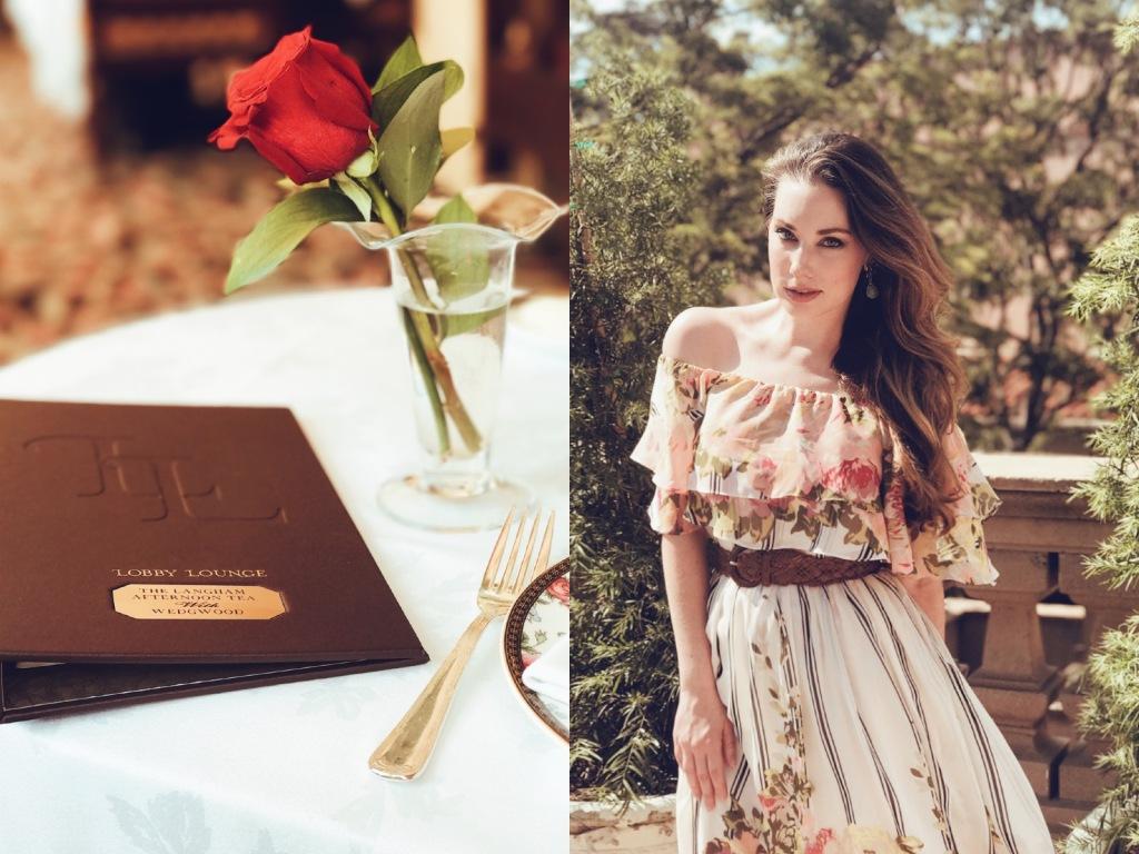 Los Angeles bridal designer Lauren Elaine explores the Langham Huntington Pasadena wedgewood tea service