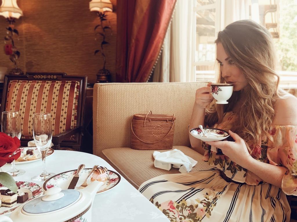 Fashion Designer Lauren Elaine enjoys the Langham Pasadena's Afternoon Tea with Wedgewood