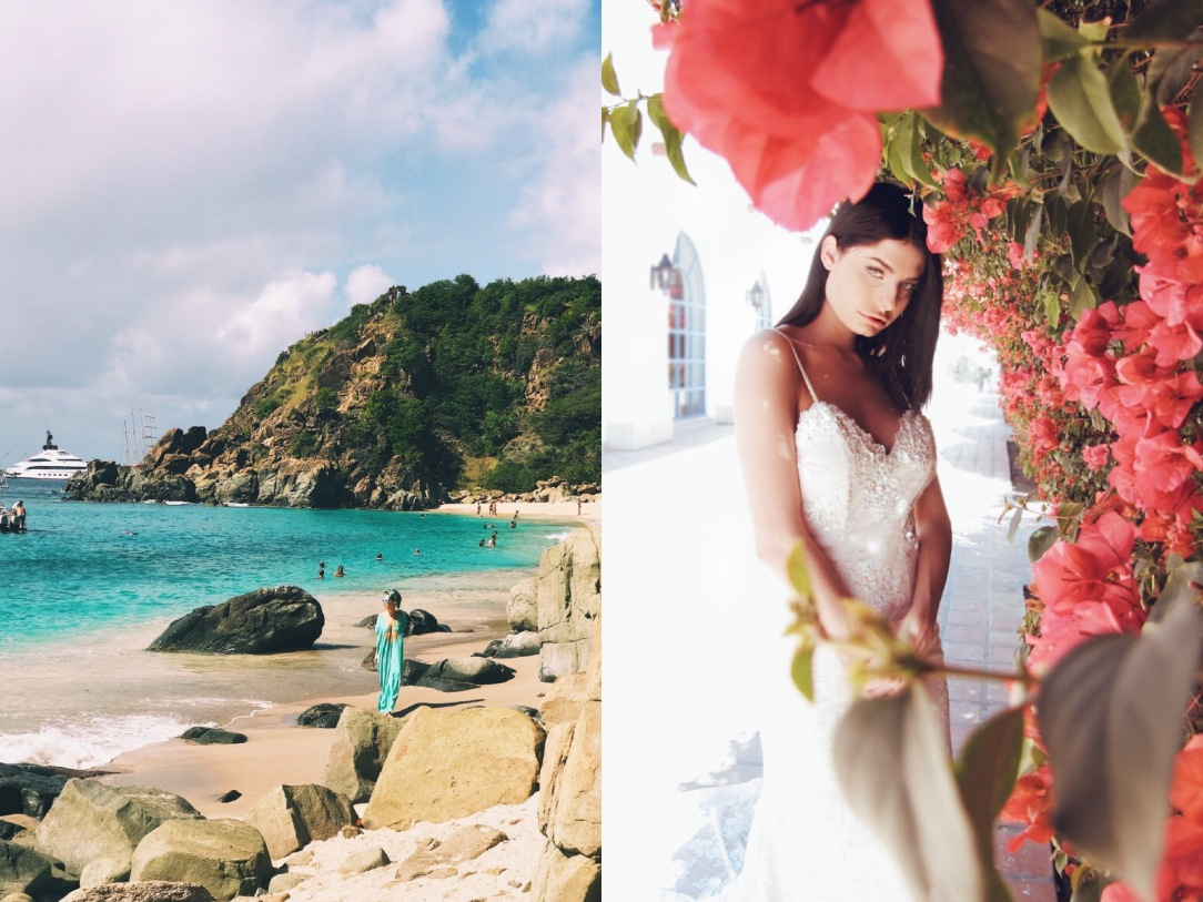Shell Beach inspires Destination Beach Wedding Gown by Lauren Elaine