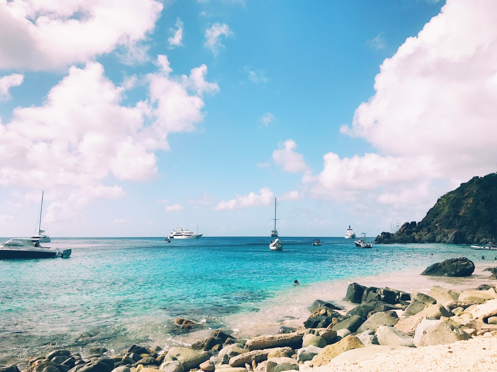 Shell Beach in Gustavia, St. Barts West Indies