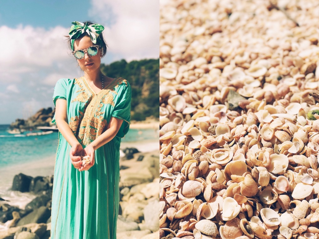 Fashion Designer and Once Upon a Seam Blogger Lauren Elaine explores Shell Beach on St. Barts