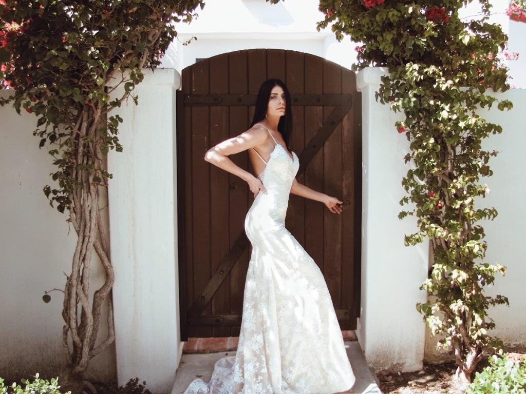 """Lumen"" sparkling crystal mermaid wedding dress by Lauren Elaine Bridal"