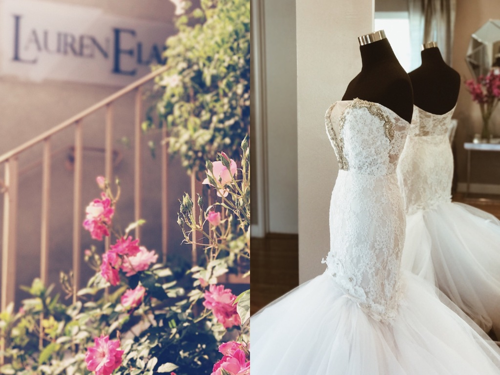 Exterior of the Lauren Elaine Flagship Bridal Salon in Los Angeles, CA.
