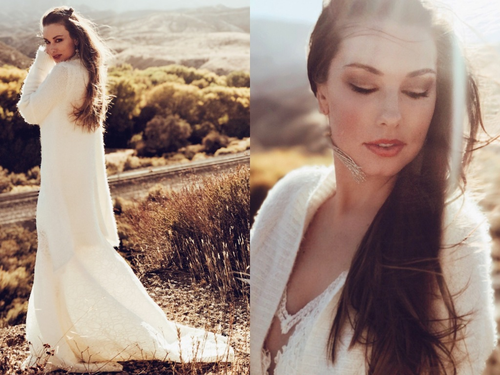 Customizable wedding dress train options by Lauren Elaine Bridal of Los Angeles