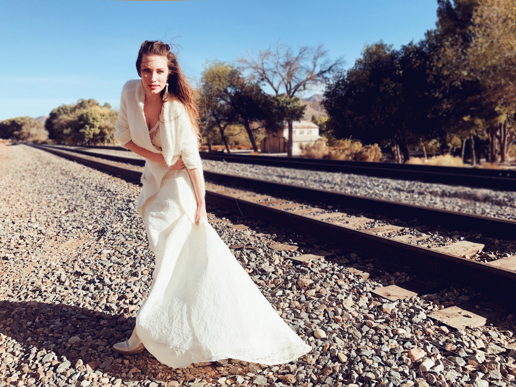 Customizable detachable wedding dress trains by Lauren Elaine Bridal of Los Angeles