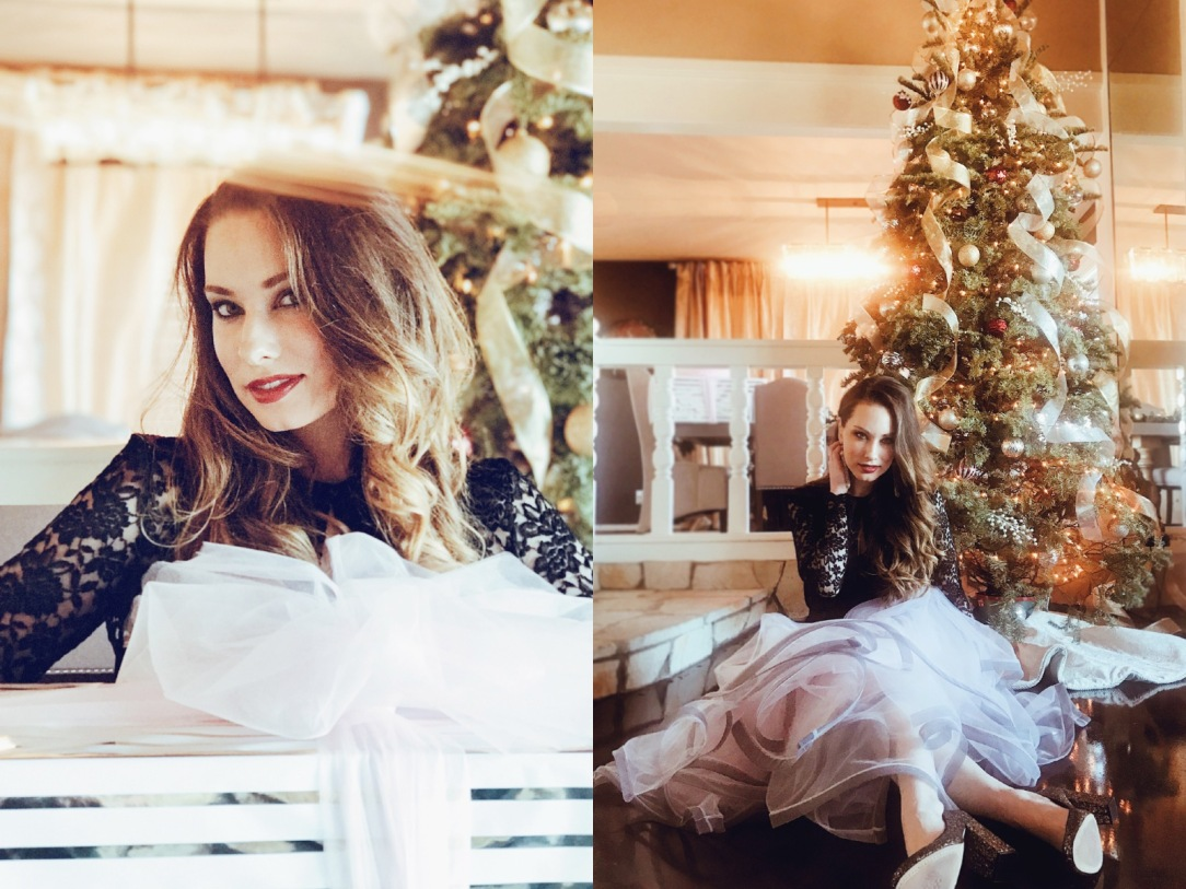 Los Angeles Bridal Designer Lauren Elaine shares a look at her home, Castle Vista, decorated for the Holidays.