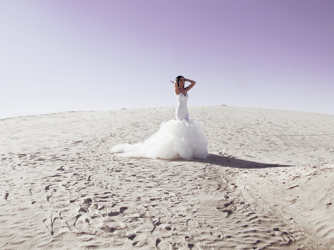 Fantasy ultra violet wedding photography by Lauren Elaine Bridal