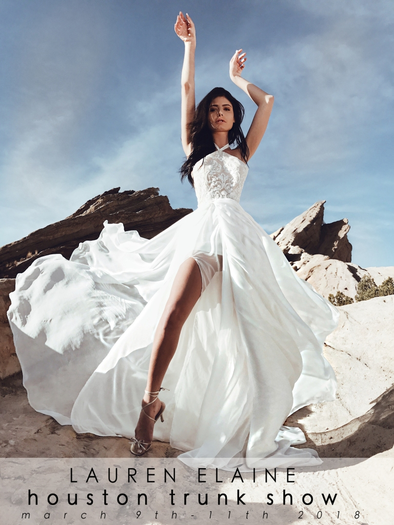 Book your Lauren Elaine bridal appointment and find your dream wedding dress in Houston, Texas
