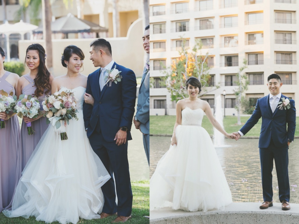 Bride Vicky wears a custom Lauren Elaine Magnolia gown at her Avenue of the Arts Wedding