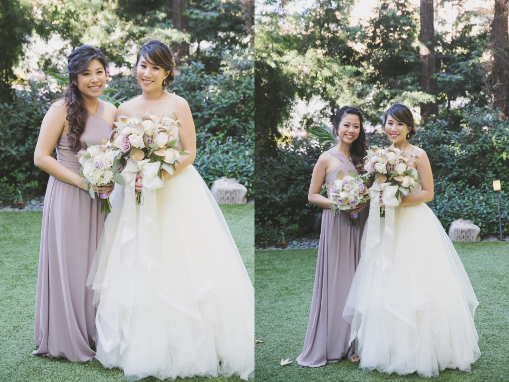 Bride Vicky wears a custom Lauren Elaine Magnolia gown at her Avenue of the Arts Wedding in Anaheim
