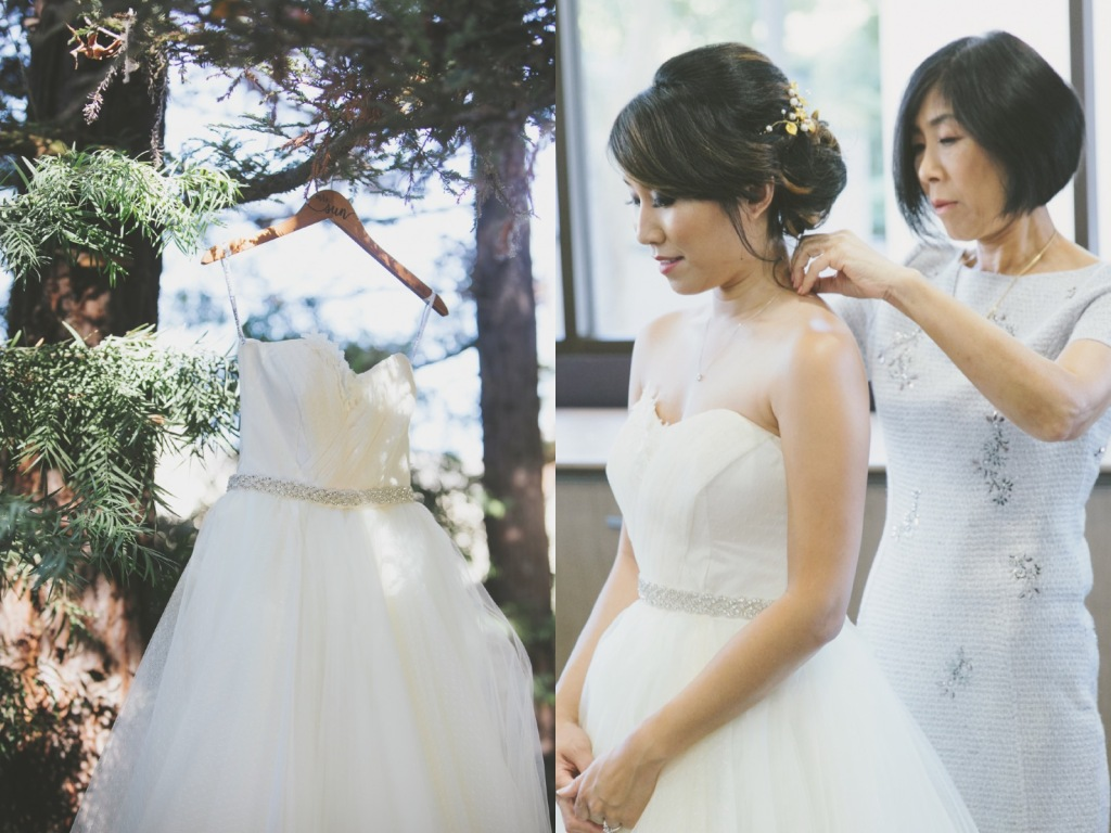 Bride Vicky wears a custom Lauren Elaine Magnolia gown at her Avenue of the Arts Wedding 4