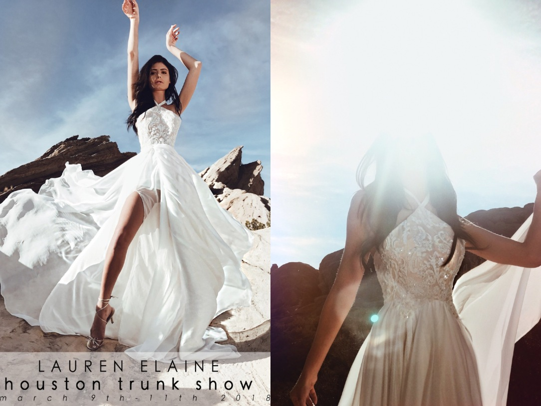 Book an appointment at the Lauren Elaine Bridal Salon Trunk Show event in Houston, Texas