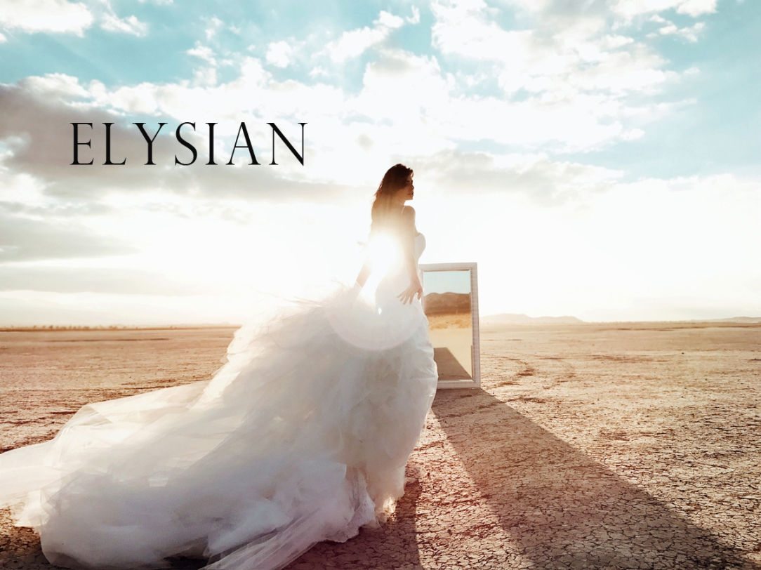 Lauren Elaine Elysian gown lookbook cover