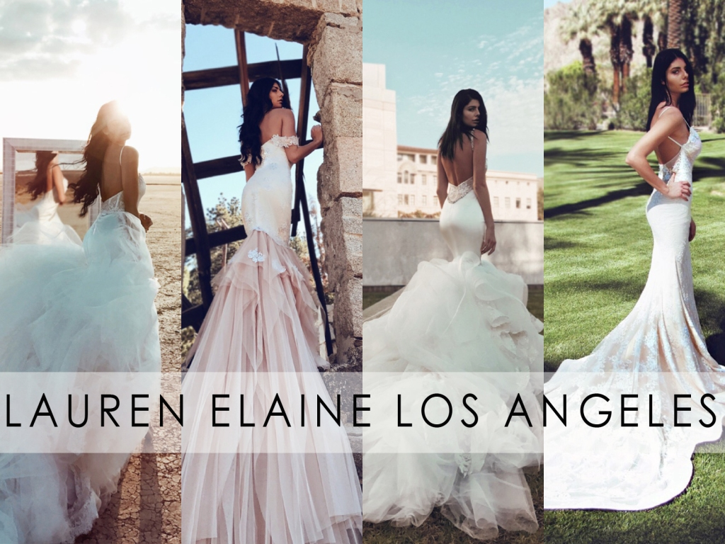 Visit the Lauren Elaine Bridal Salon in Los Angeles to find your dream wedding dress!