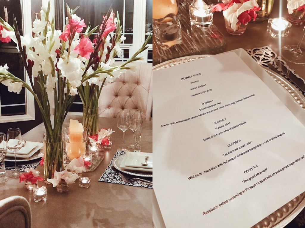 Powell Haus Valentines Day tasting menu at Castle Vista