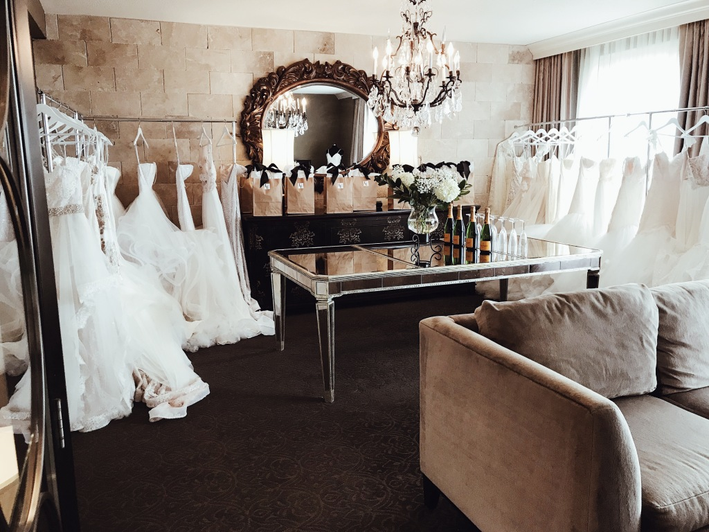 Inside ambiance at the Lauren Elaine Bridal Trunk Show in Houston, Texas