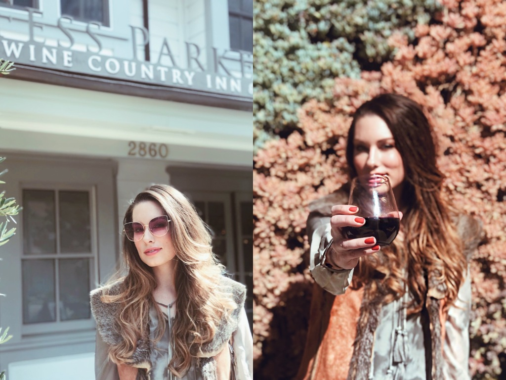 Fashion Designer Lauren Elaine visits the Fess Parker Wine Country Inn in Los Olives, CA