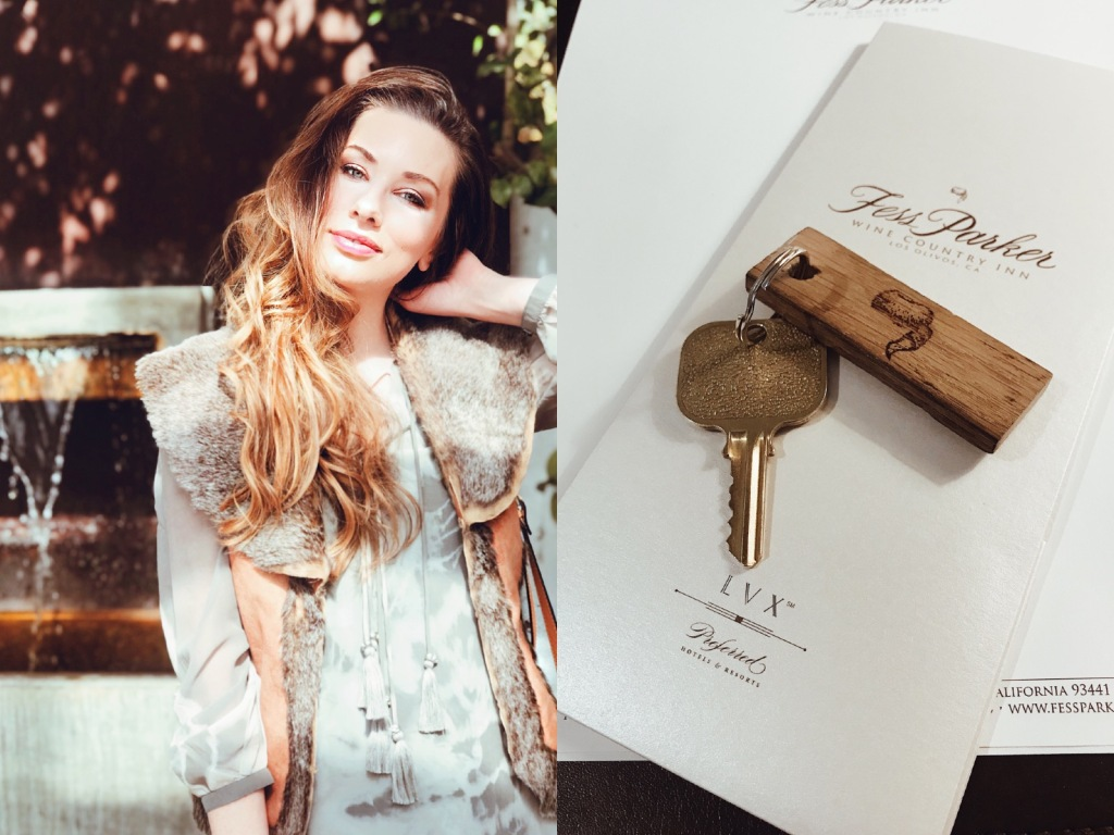 Fashion Designer and Lifestyle blogger Lauren Elaine checks in to the Fess Parker Wine Country Inn in Los Olives, CA