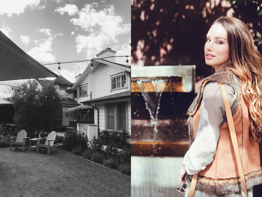 Bridal Designer and Once Upon a Seam Blogger explores the grounds at the Fess Parker Wine Country Inn in Los Olives, CA