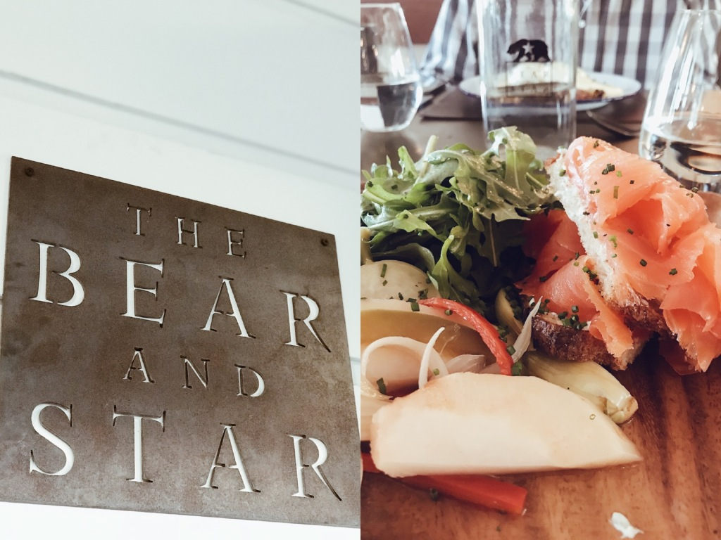 Smoked salmon toast at the Bear and Star restaurant at the Fess Parker Wine Country Inn