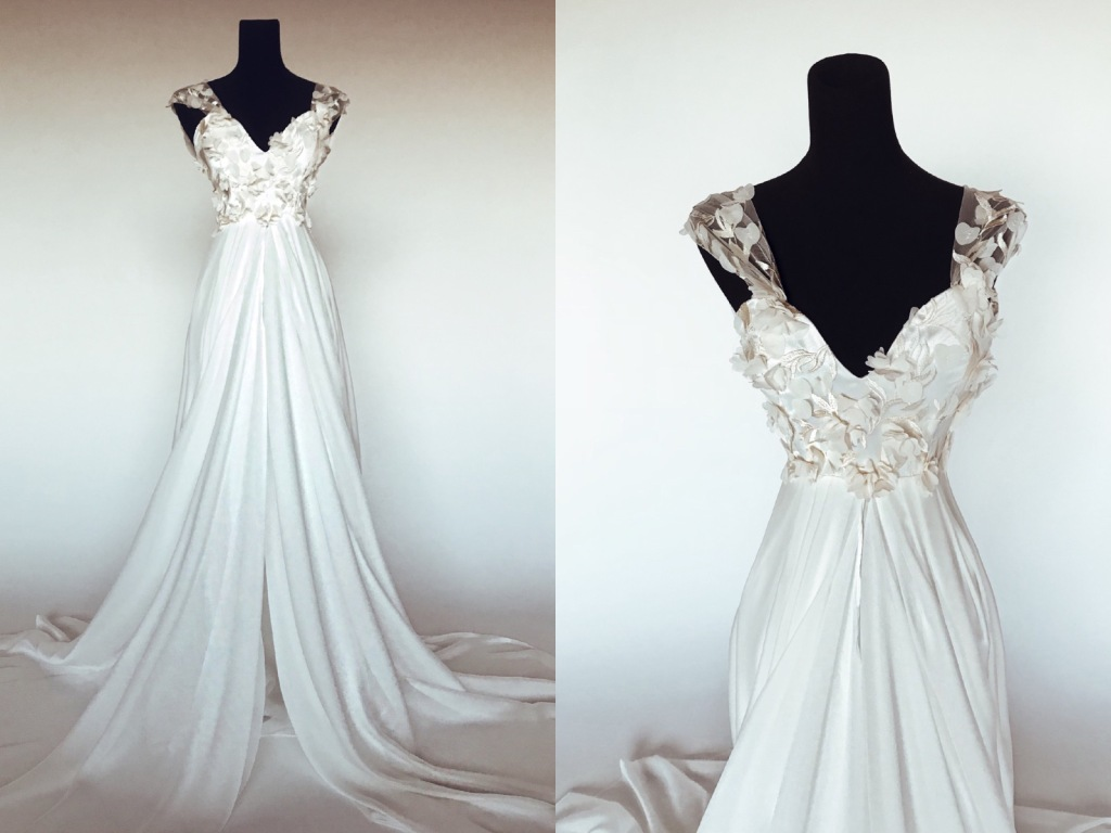 "A first look at the ""Chrysalin"" gown from the Pearl by Lauren Elaine Bridal Collection"
