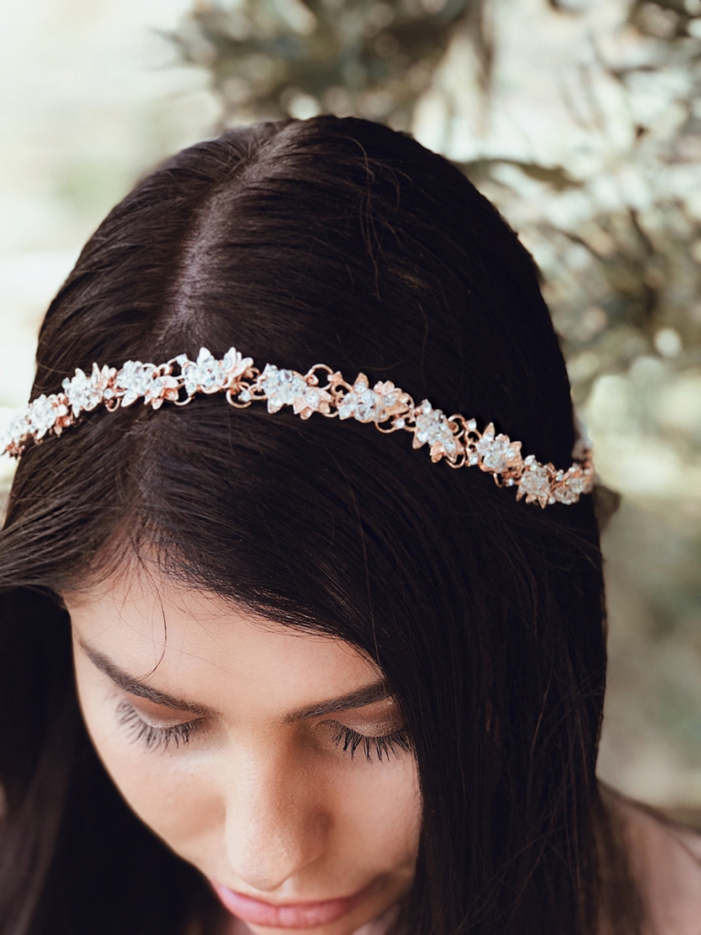 Lauren Elaine bridal flower crown tiara