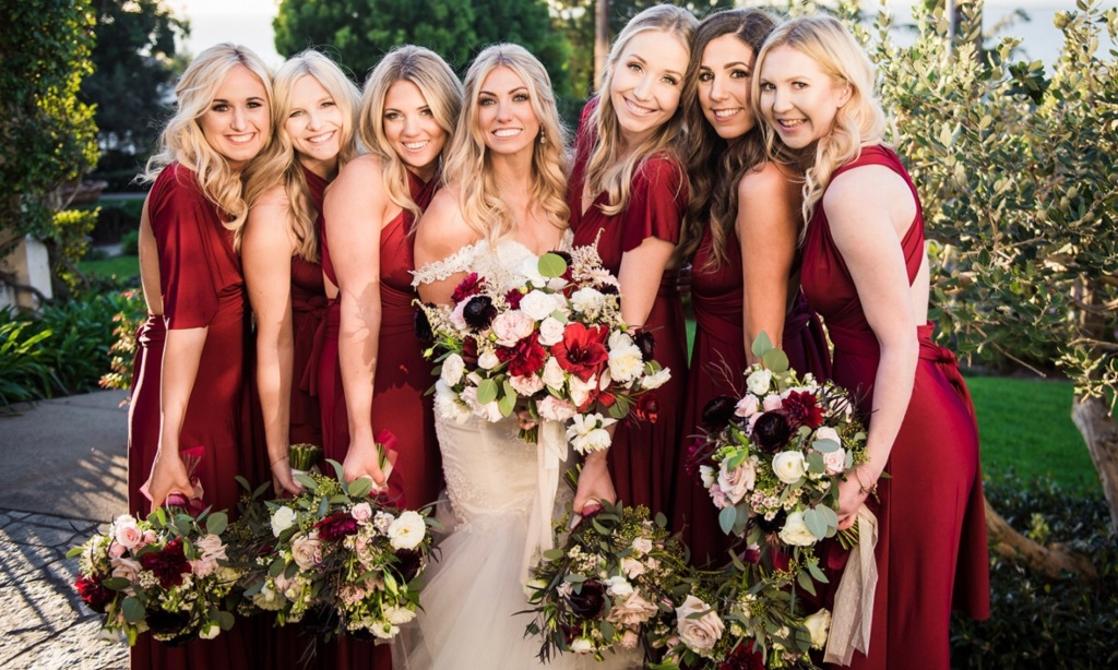 "Bride Alex's wedding at the Thurdsay Club in San Diego and her custom Lauren Elaine ""Capella"" Gown"