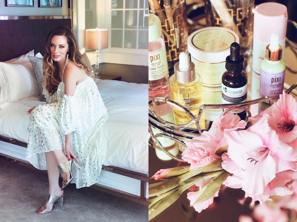 Fashion Designer and Lifestyle Blogger Lauren Elaine shares her product picks for glowing wedding skin