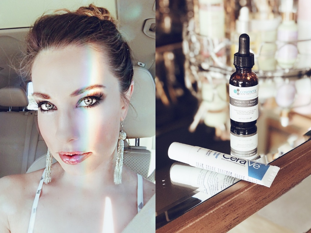 Cosmetic skin solutions C+E Ferulic serum and Cerave Eye Repair Cream