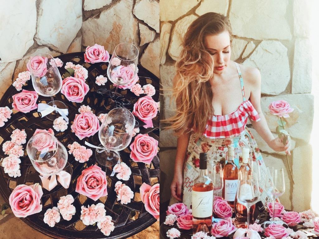 Rosé taste test results from Castle Vista and Bridal Fashion Designer Lauren Elaine
