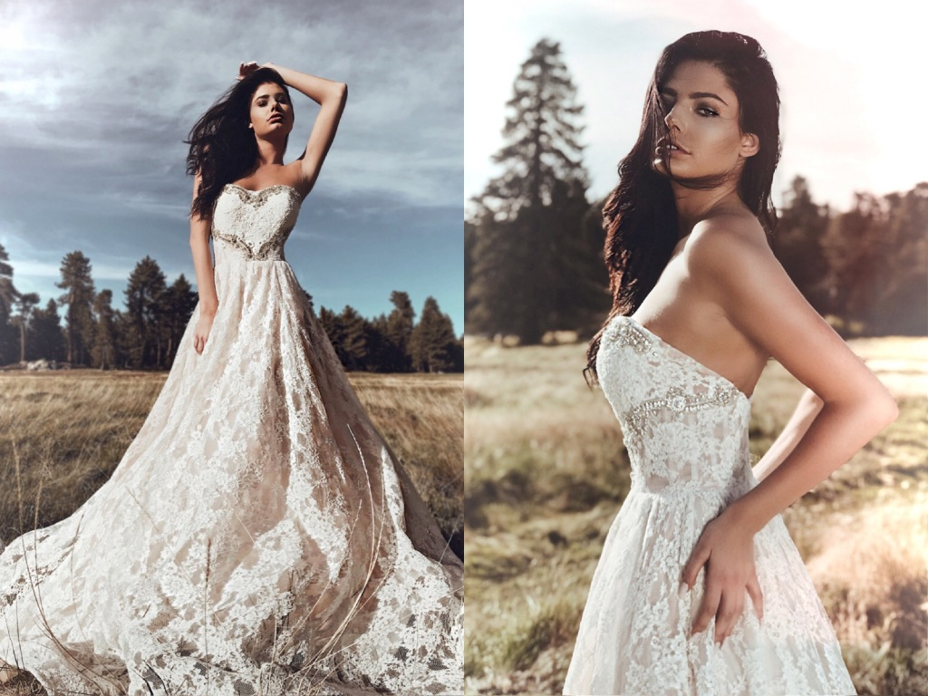 Fairytale ball gown wedding dresses by Lauren Elaine