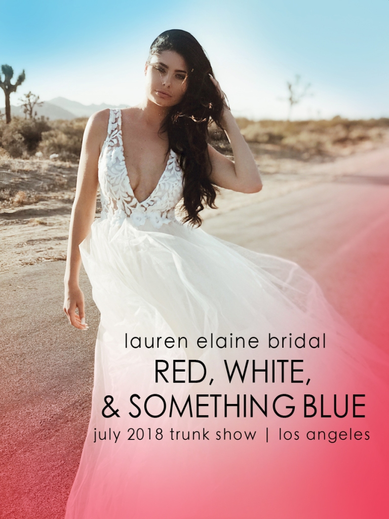 Lauren Elaine 'Red, White and Something Blue' July Trunk Show event