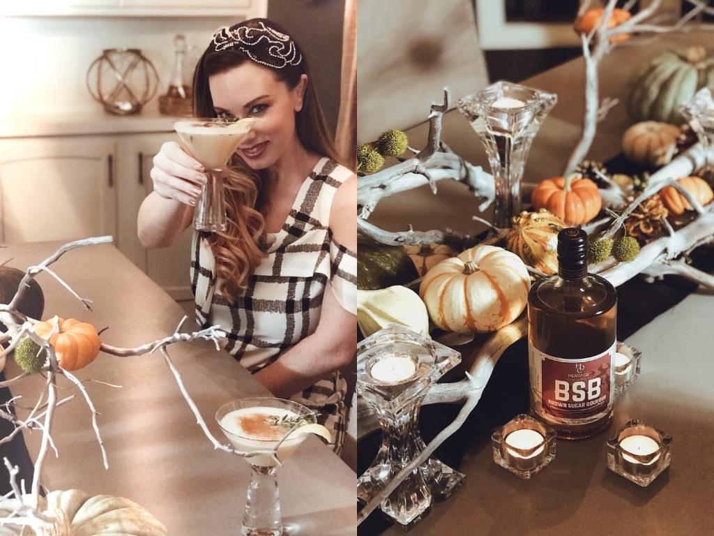 Designer Lauren Elaine shares a Fall Cocktail recipe featuring Brown Sugar Bourbon