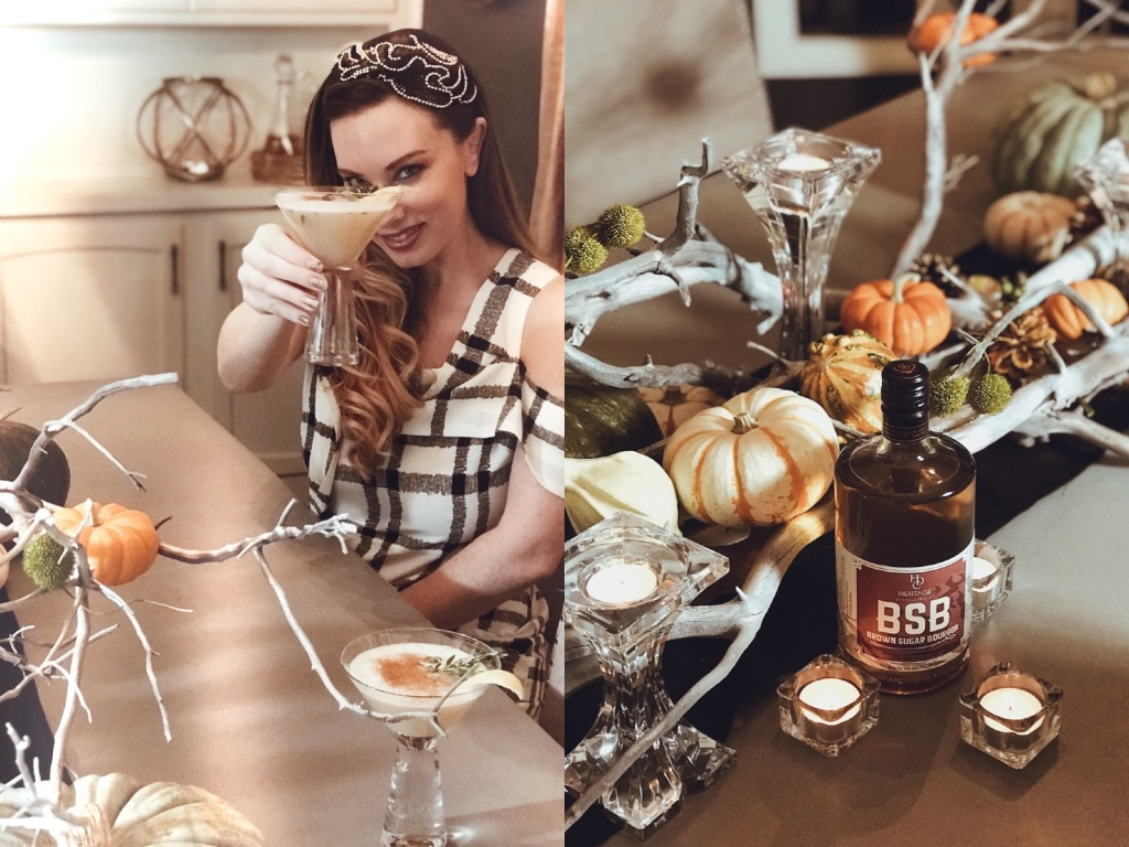 Designer Lauren Elaine shares a Fall Cocktail recipe featuring Brown Sugar Bourbon