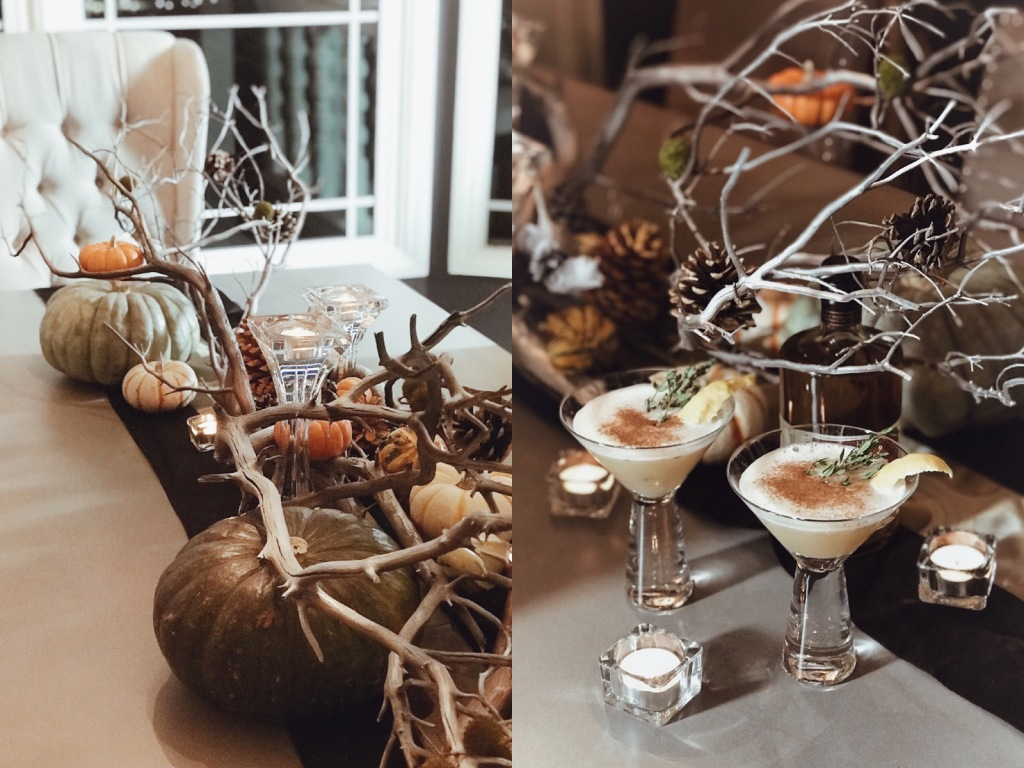 """""""Harvest Thyme"""" cocktails made with Heritage Distillery's Brown Sugar Bourbon"""