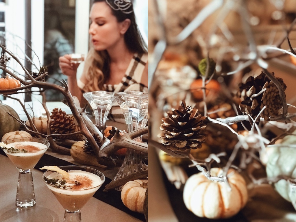Fall tablescape and brown sugar bourbon cocktail recipe by Designer Lauren Elaine